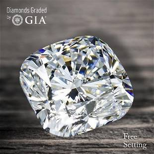 101 ct Color GVVS2 Cushion cut Diamond 53 Off Rap