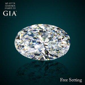 2.01 ct, Color D/VVS1, Oval cut Diamond 43% Off Rap