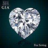 2.23 ct, Color F/IF, Heart cut Diamond 47% Off Rap