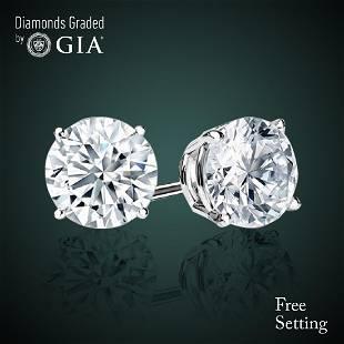 604 ct Round cut Diamond Pair