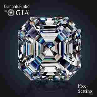 401 ct Color IVVS1 Sq Emerald cut Diamond 50 Off