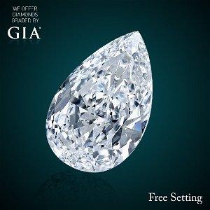 5.72 ct, Color F/IF, Pear cut Diamond 40% Off Rap