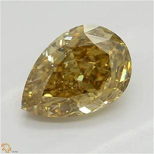 106 ct Brown YellowVVS2 Pear cut Diamond