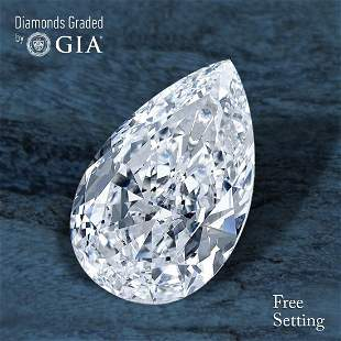 101 ct Color FVVS1 Pear cut Diamond 41 Off Rap
