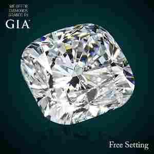 2.20 ct, Color D/VVS1, Cushion cut Diamond 50% Off Rap