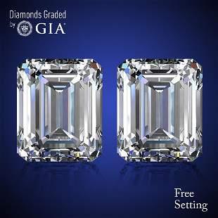 803 ct Emerald cut Diamond Pair