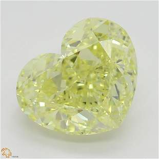 386 ct Intense YellowVVS1 Heart cut Diamond
