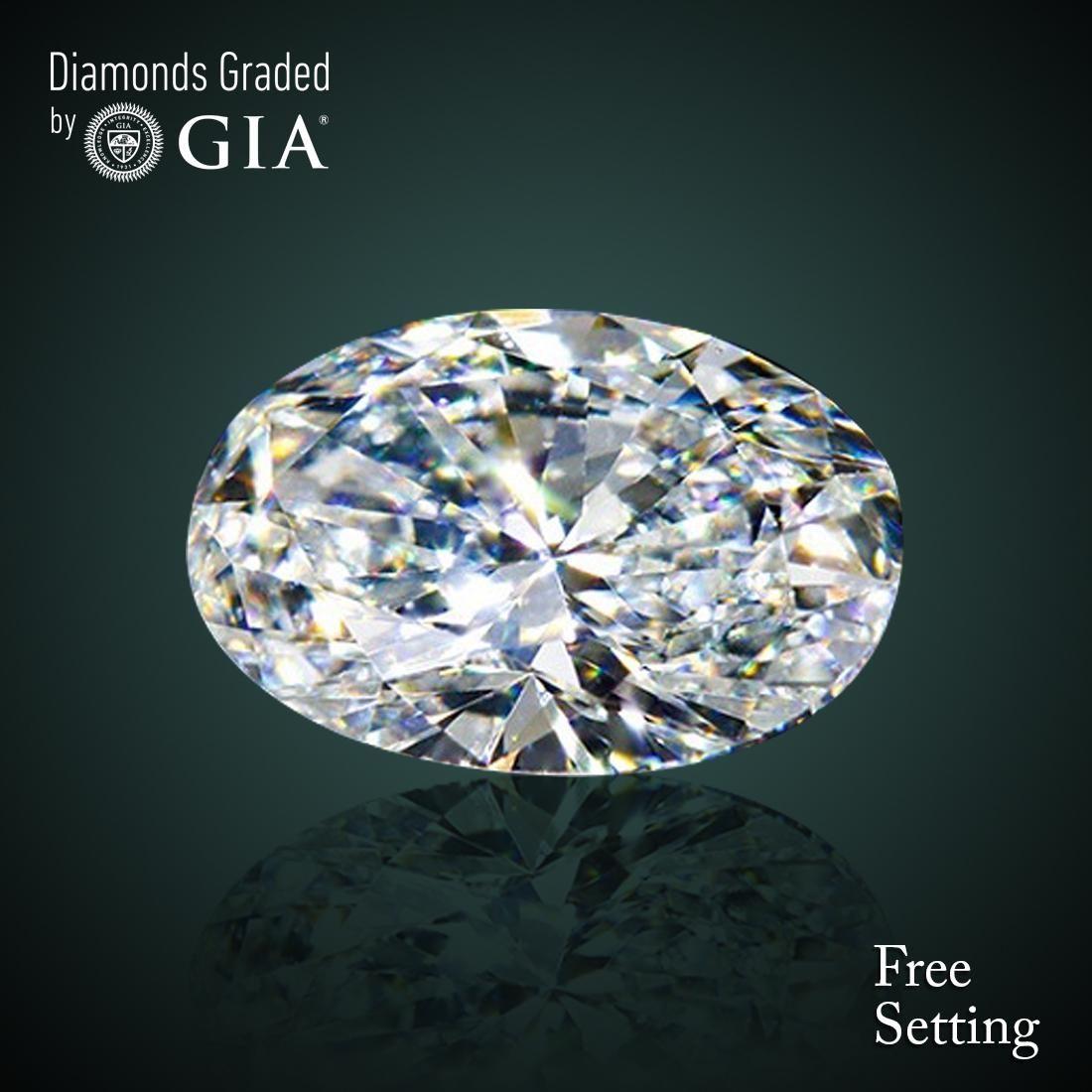 4.01 ct, Color E/VVS2, Oval cut Diamond 50% Off Rap