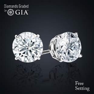 606 ct Round cut Diamond Pair