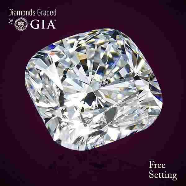 5.09 ct, Color F/VS1, Cushion cut Diamond 46% Off Rap