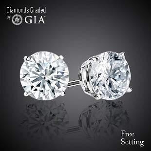 603 ct Round cut Diamond Pair