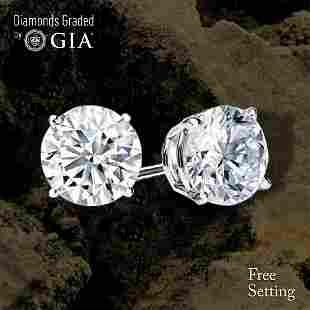 405 ct Round cut Diamond Pair