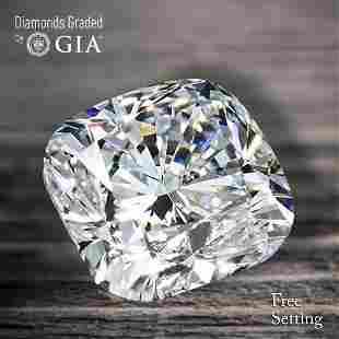100 ct Color IVVS1 Cushion cut Diamond 59 Off Rap