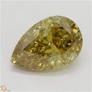 125 ct Brn YellowVS2 Pear cut Diamond