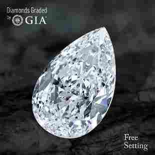 100 ct Color GVVS2 Pear cut Diamond 52 Off Rap