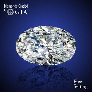 2.01 ct, Color D/VVS1, Oval cut Diamond 50% Off Rap