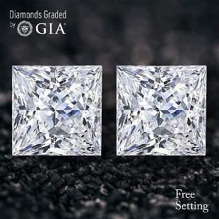 410 ct Princess cut Diamond Pair