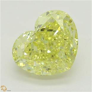 151 ct YellowIF Heart cut Diamond