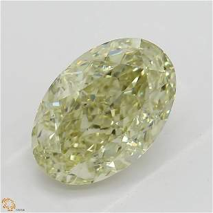 255 ct Brn Grn YellowVS1 Oval cut Diamond