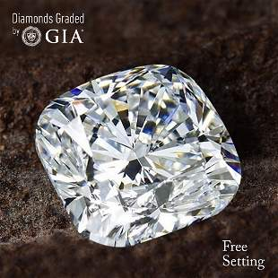 201 ct Color GVVS1 Cushion cut Diamond 55 Off Rap