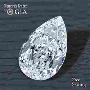 106 ct Color EVVS1 Pear cut Diamond 44 Off Rap