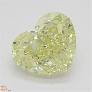 131 ct YellowVVS2 Heart cut Diamond