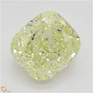 218 ct Lt YellowVVS1 Cushion cut Diamond
