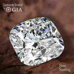 152 ct Color GVVS2 Cushion cut Diamond 49 Off Rap