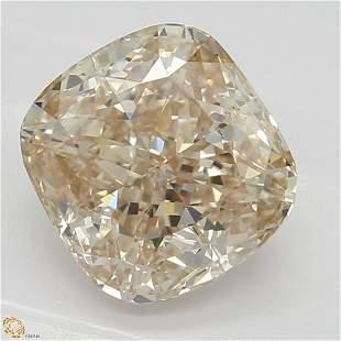 143 ct PinkBrownVVS1 Cushion cut Diamond