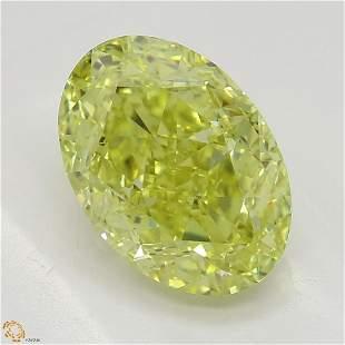 216 ct Intense YellowIF Oval cut Diamond