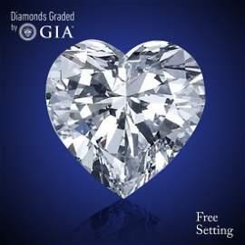 2.01 ct, Color E/VVS2, Heart cut Diamond 53% Off Rap