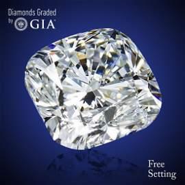 4.50 ct, Color G/VVS2, Cushion cut Diamond 50% Off Rap