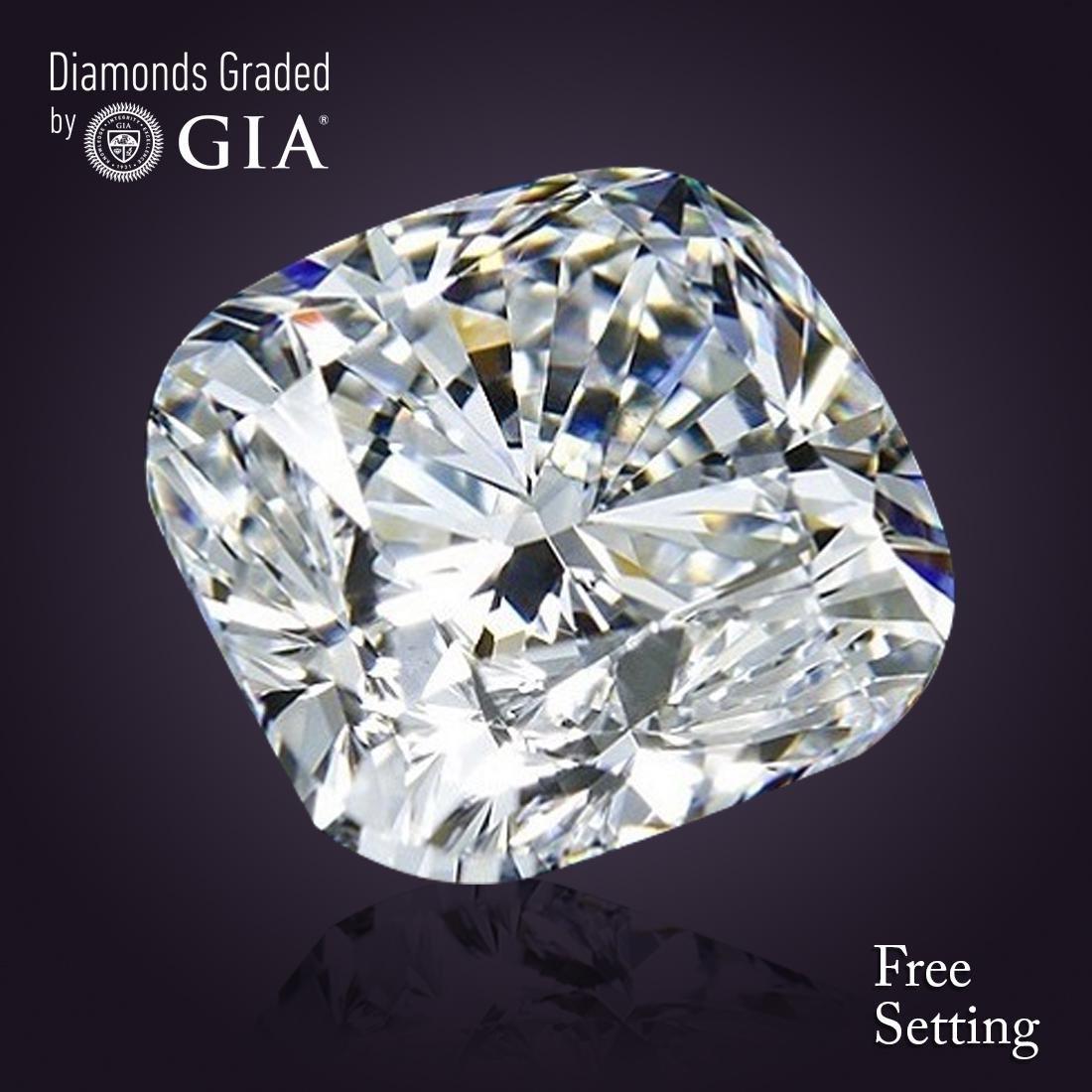 2.00 ct, Color F/VS1, Cushion Bri. cut Diamond 46% Off