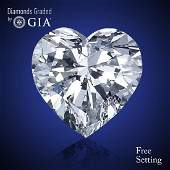 5.05 ct, Color E/VVS2, Heart cut Diamond 37% Off Rap