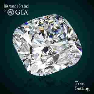 204 ct Color GVS2 Cushion cut Diamond 46 Off Rap
