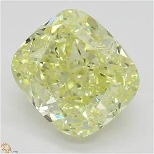 235 ct YellowVVS1 Cushion cut Diamond