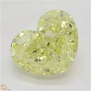 350 ct YellowVVS1 Heart cut Diamond