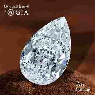 305 ct Color EVS1 Pear cut Diamond