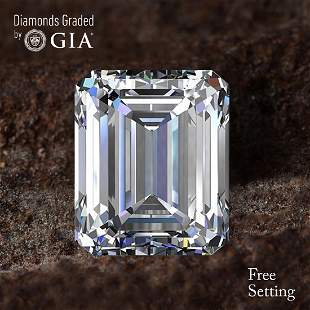 414 ct Color IVVS1 Emerald cut Diamond