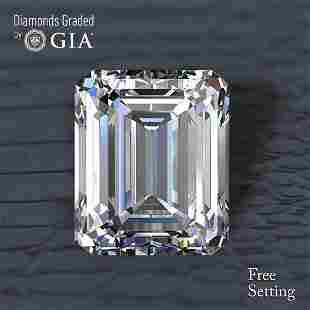 501 ct Color IVVS1 Emerald cut Diamond