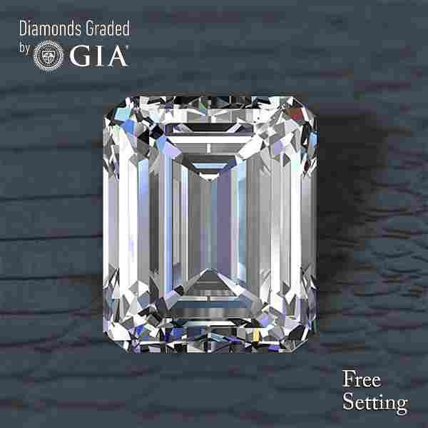 5.01 ct, Color I/VVS1, Emerald cut Diamond