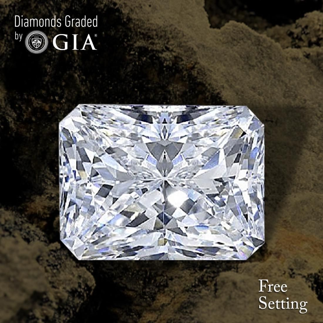 3.07 ct, Color F/VVS2, Radiant cut Diamond
