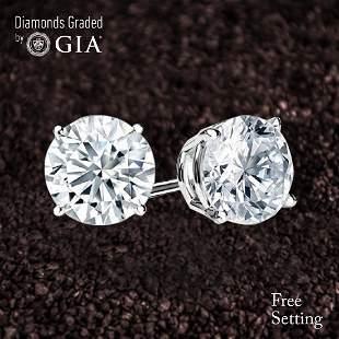 811 ct Round cut Diamond Pair