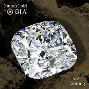351 ct Color GIF Cushion cut Diamond