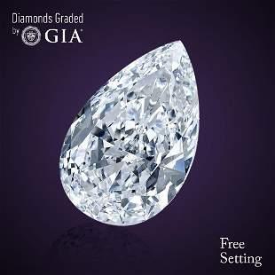 201 ct Color DVVS2 Pear cut Diamond
