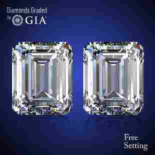 402 ct Emerald cut Diamond Pair