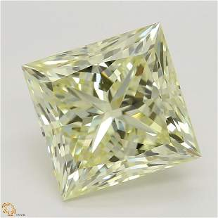 304 ct Lt YellowVS2 Princess cut Diamond