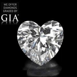 5.02 ct, Color F/VS1, Heart cut Diamond