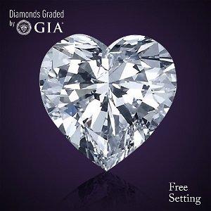 3.01 ct, Color D/VVS1, Heart cut Diamond