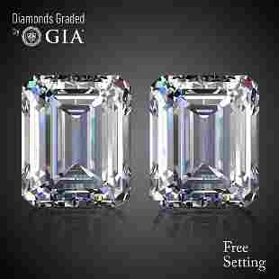 602 ct Emerald cut Diamond Pair